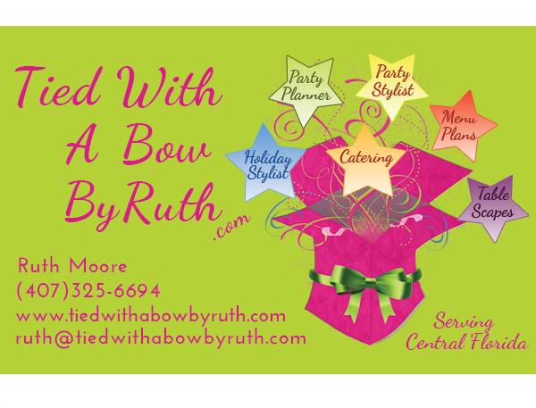 Tied With A Bow By Ruth Business Card Design
