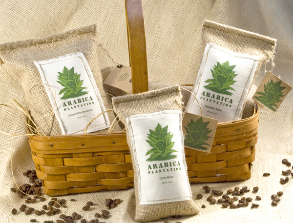 Arabica Coffee Bag, Tag and Label Design - Click image enlarged view
